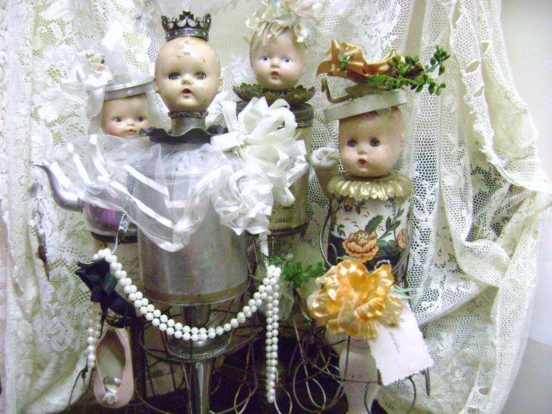 Altered dolls baby puppy 005