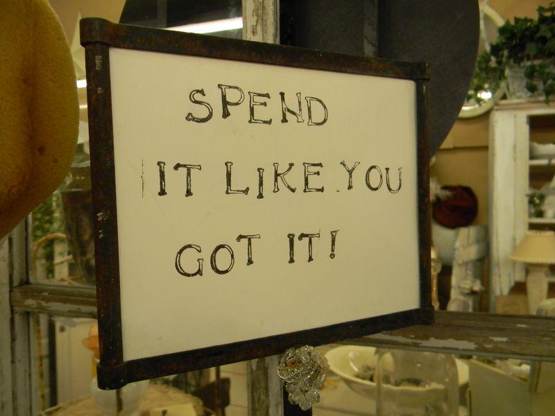Spend it